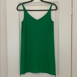 Topshop Petite Emerald Green Slip Dress